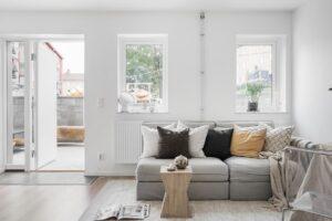 vardagsrum i ny lägenhet